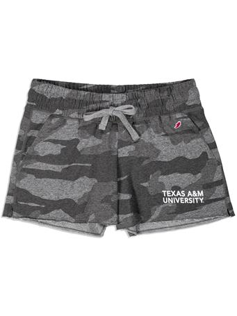 Texas A&M League Women's Camo Shorts