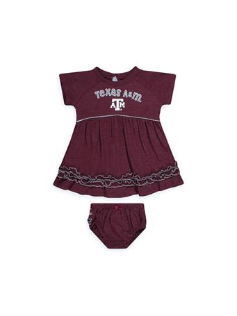 Texas A&M Plucky Infant Dress & Bloomers Set