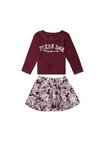Texas A&M Aggies Birdie Toddler Top & Skirt Set