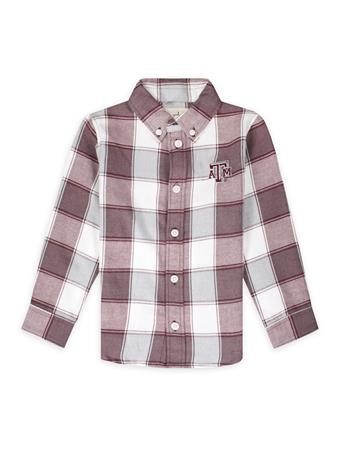 Texas A&M Garb Cooper Toddler Long Sleeve Flannel