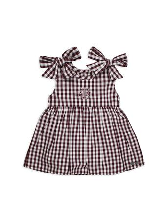 Texas A&M Cora Infant Gingham Dress