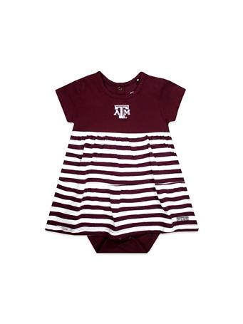 Texas A&M Liza Infant Cotton Stripe Dress