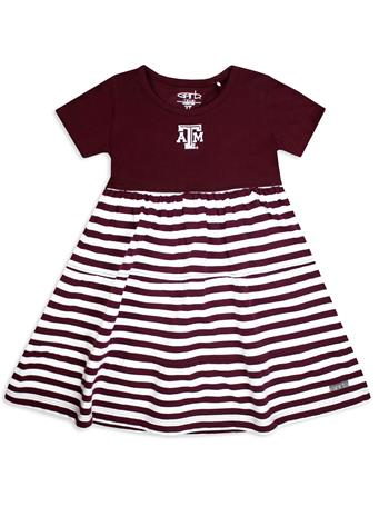 Texas A&M Liza Toddler Cotton Stripe Dress
