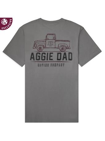 Texas A&M Aggie Dad Moving Company Pocket Tee