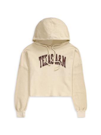 Texas A&M Corded Crop Hoodie
