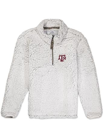 Teas A&M Youth Quarter Zip Sherpa