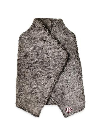 Texas A&M Heathered Sherpa Draped Vest