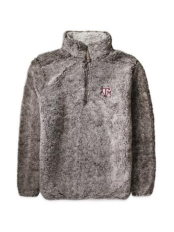 Texas A&M Heathered Quarter Zip Sherpa