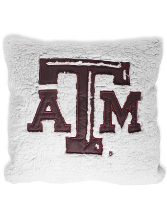 Texas A&M Heathered Sherpa Pillow