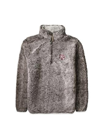 Texas A&M Youth Heathered Quarter Zip Sherpa