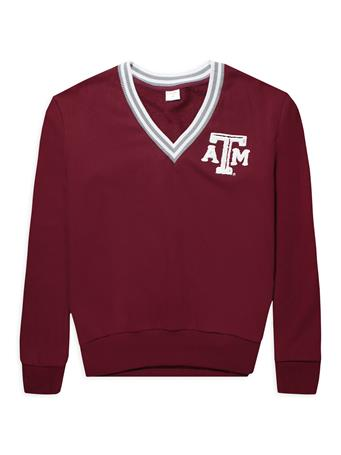 Texas A&M ZooZatz Inspire V-Neck Sweatshirt