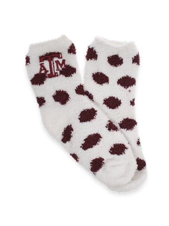 Texas A&M ZooZatz Fuzzy Dot Socks