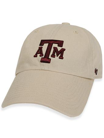 Texas A&M '47 Brand Natural Clean Up Cap