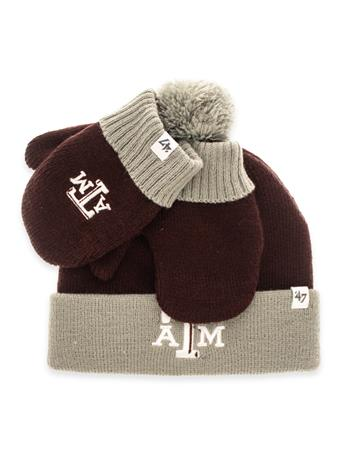 Texas A&M '47 Toddler Beanie Mitten Set