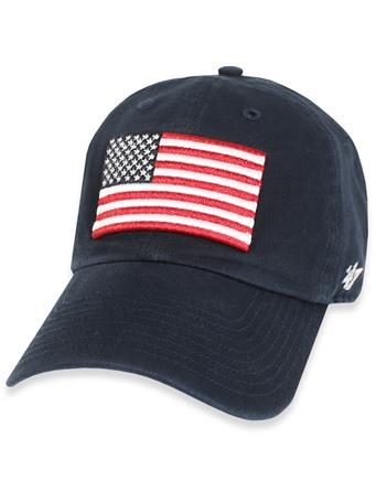 Texas A&M '47 Brand American Flag OHT Cap