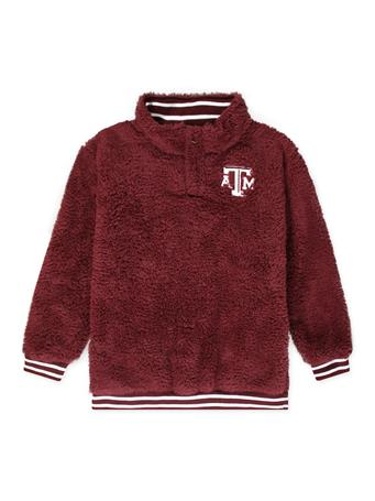 Texas A&M Youth Sherpa Quarter Zip Jacket