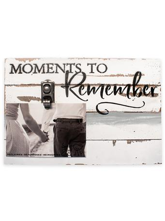 Moments To Remember Wood Clip Frame