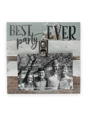 Best Party Ever Wood Clip Frame