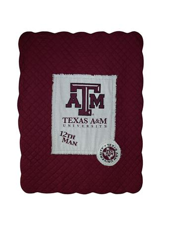 Texas A&M Great Fans Quilted Throw