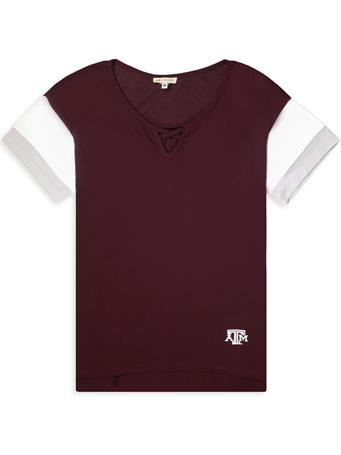 Texas A&M Criss Cross Colorblock