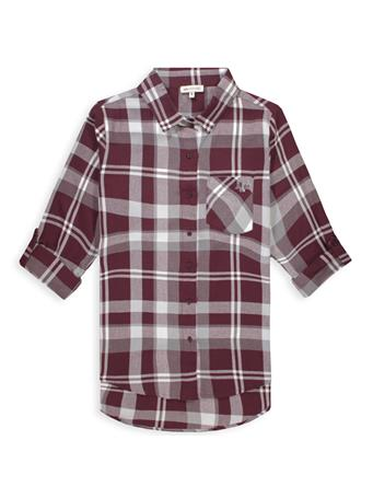 Texas A&M Women's Boyfriend Plaid Button Down