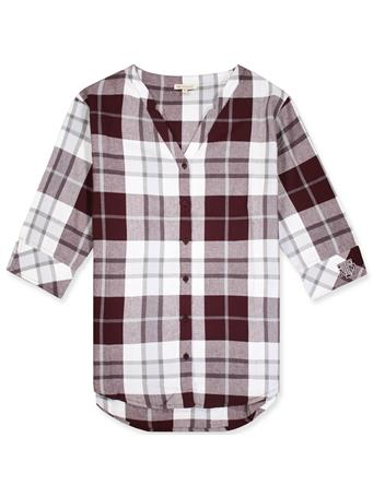 Texas A&M Women's Plaid Button Down Tunic
