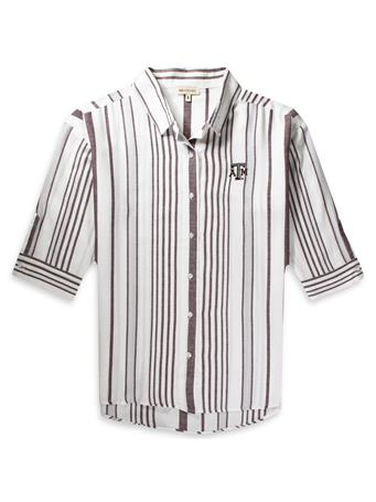 Texas A&M Women's Striped Button Down