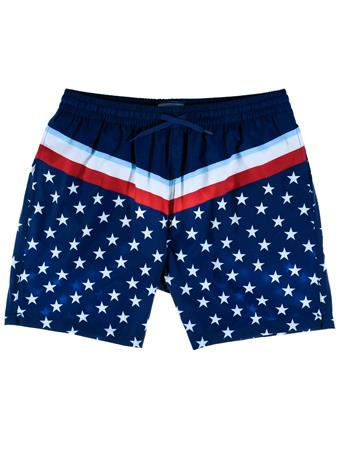 BURLEBO Stars & Stripes Swim Trunks
