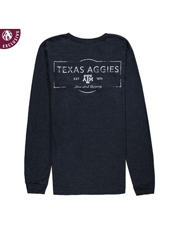 Texas A&M Aggies Stamped Long Sleeve T-Shirt
