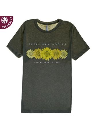 Texas A&M Aggies Sunflower T-Shirt