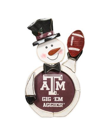 Texas A&M Gig 'Em Aggies Snowman Greeter