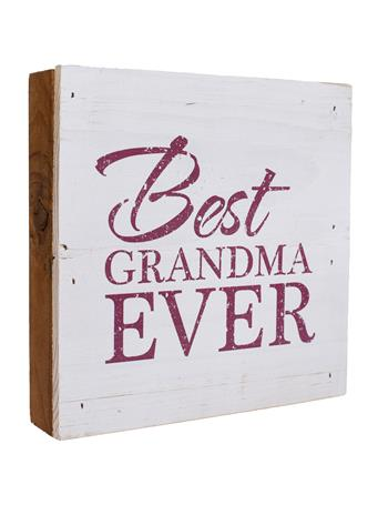 Maroon & White Best Grandma Ever Sign