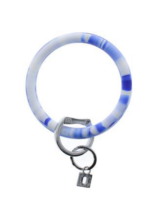 Big O Key Rings Blue Me Away Marble Silicone