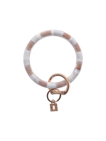 Big O Key Rings Rose Gold Marble Silicone