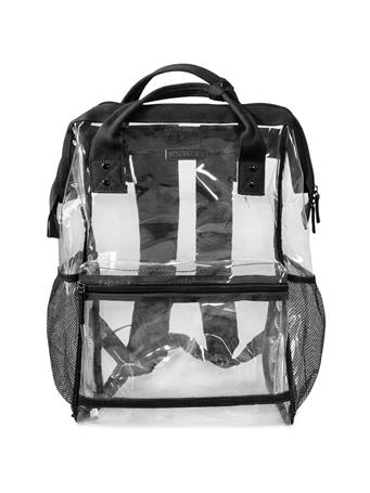 Black Hinge Top Clear Backpack