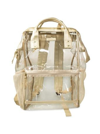 Gold Hinge Top Clear Backpack