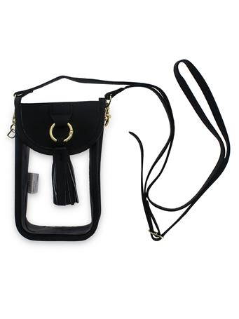 Black Clear Cell Phone Crossbody