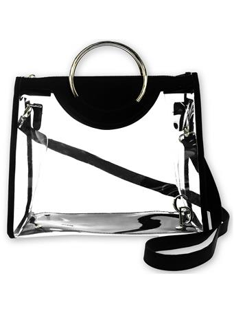 Black Clear Classic Ring Tote