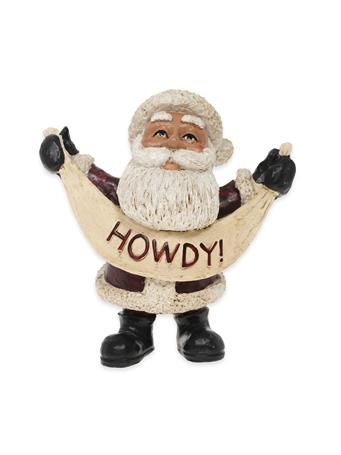 Texas A&M HOWDY Santa Figurine