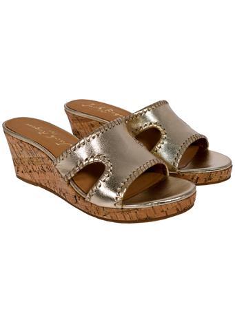 Jack Rogers Sloane Platinum Wedge Sandal