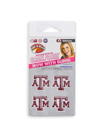 Texas A&M Temporary Glitter Tattoos