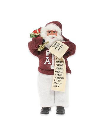 Texas A&M Santa Ornament