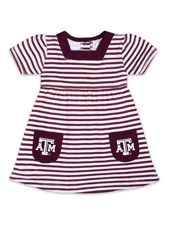 Texas A&M Infant/Toddler Striped Pocket Dress