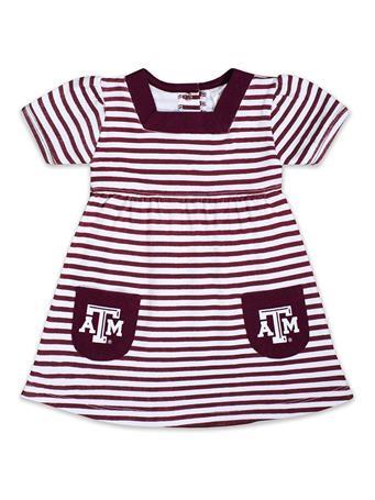 Texas A&M Infant/Toddler Striped Pocket Dress