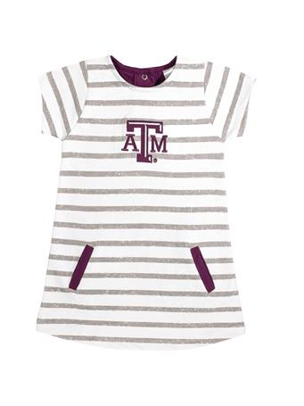 Texas A&M Toddler French Terry Stripe Dress