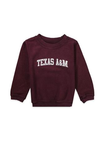Texas A&M Toddler Corded Crew