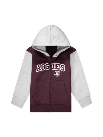 Texas A&M Little King Zipper Fleece Hoodie