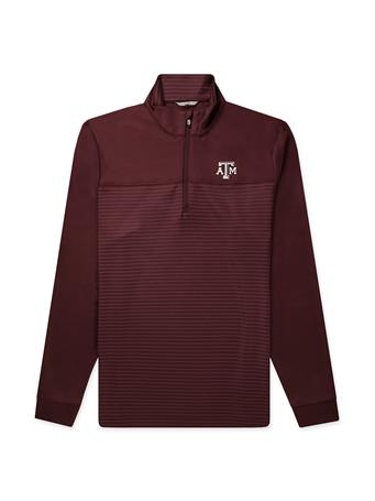 Texas A&M Cutter & Buck Traverse Stripe Half Zip