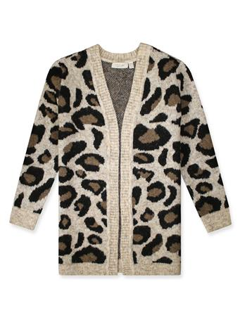 Women's Knit Cheetah Print Cardigan