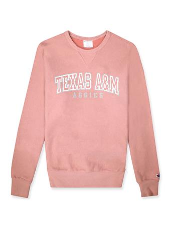Texas A&M Champion Reverse Weave Vintage Wash Crew